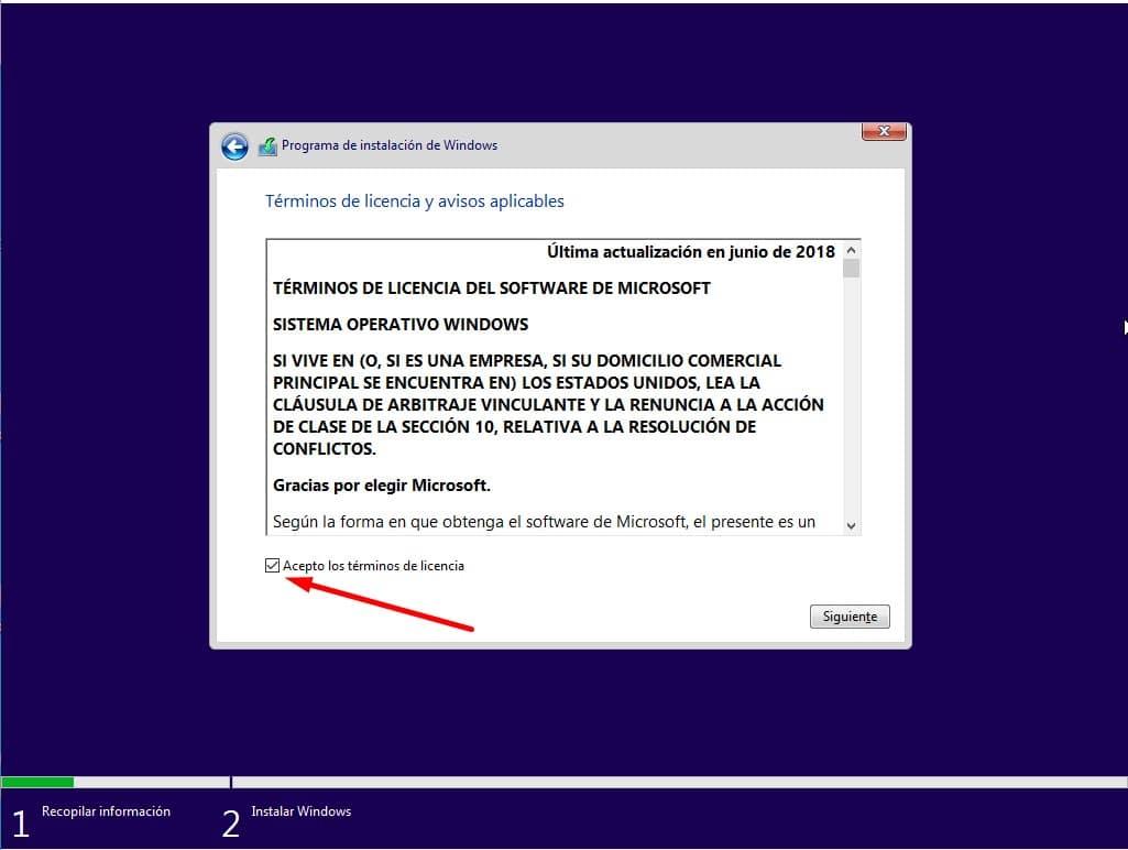 windows 10 instalacion