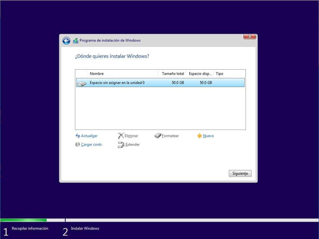 instalar windows 10 desde dvd
