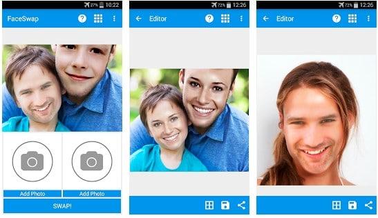 aplicaciones que te cambian la cara