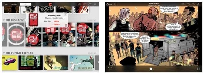 aplicaciones para comics