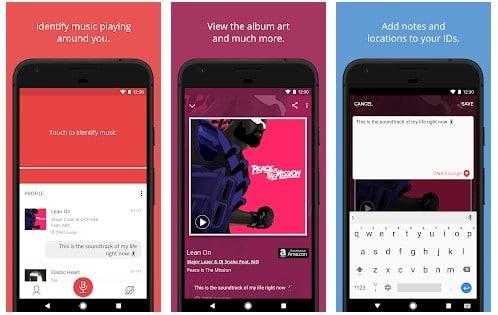 app reconocer canciones