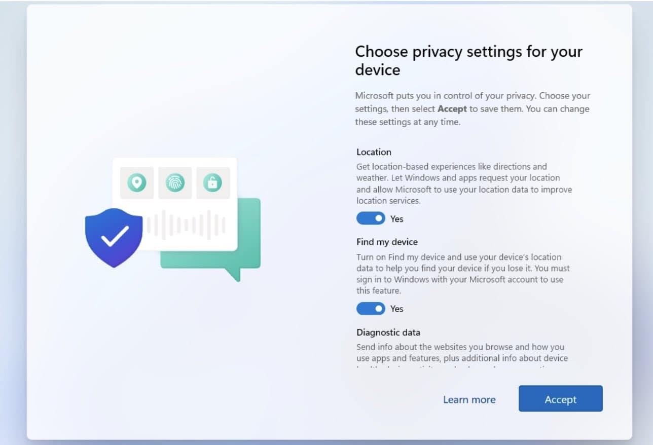 Windows 11 privacidad