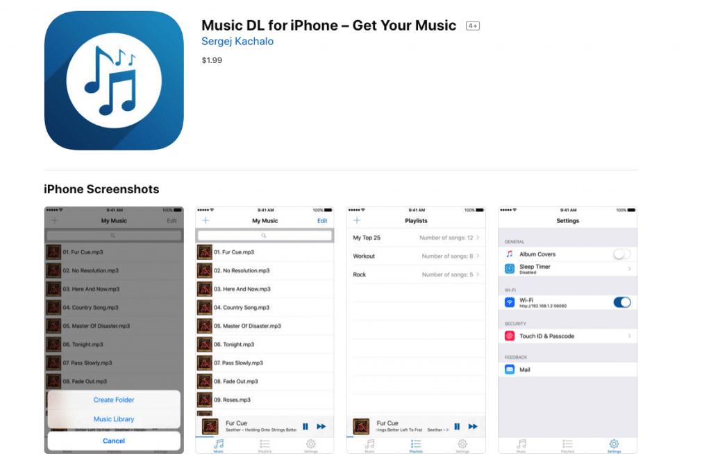 aplicaciones para descargar musica en iphone